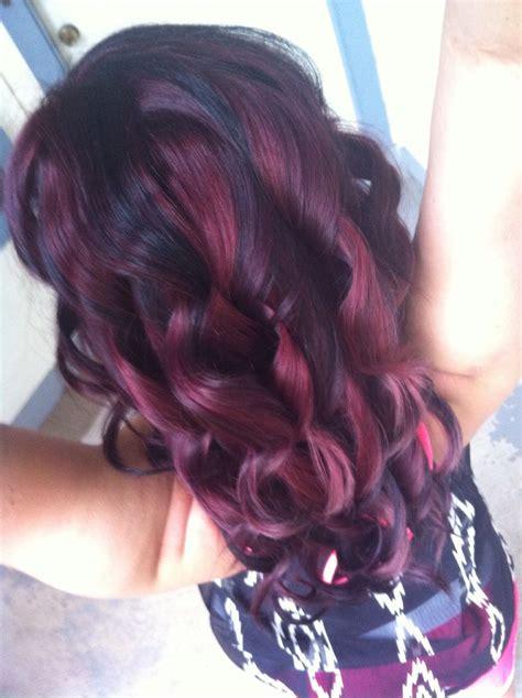 hairstyles burgundy highlights black burgundy brown hair with highlights short