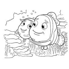 bloat finding nemo coloring page 66 coloring pages nemo nemo with bloat finding