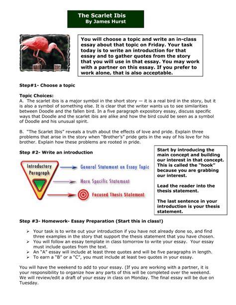 theme analysis essay the scarlet ibis scarlet ibis symbolism essay scarlet ibis essay doc the