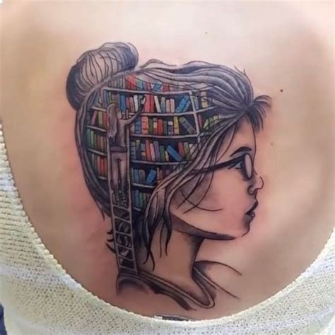 Tattoo Girl With Books In Head | 25 best ideas about open book tattoo on pinterest book