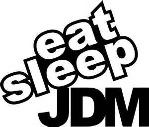 Sticker Jdm Eat Sleep eat sleep jdm decal sticker