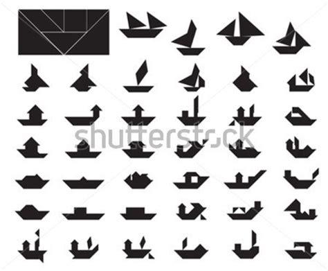 egli figuren größen grande collezione di tangram barca e nave silhouettes