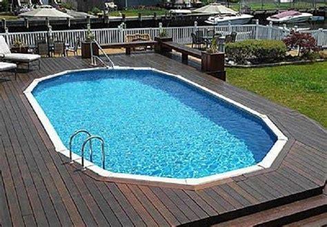 Inground Pool Decks Semi Inground Pools With Decks Studio Design Gallery
