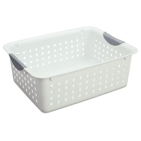 Bunning Kitchen Cabinets Sterilite 127 X 127 X 349mmultra White Storage Basket I N