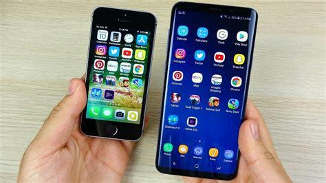 iphone se vs galaxy s9 plus speed test