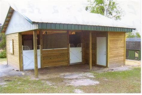 Two Stall Horse Barn William H Evans Contracting Inc Cbc031963 Horse Barn
