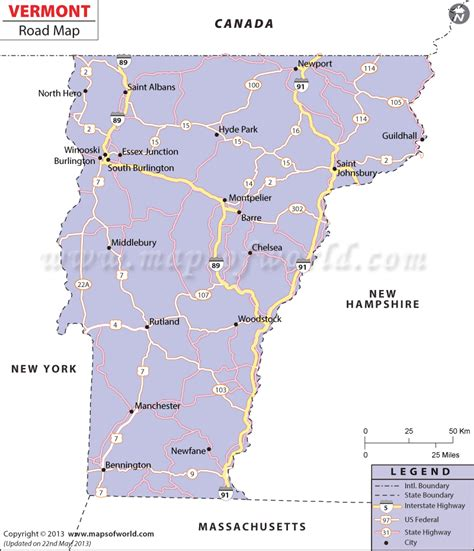 map of roads in usa vermont road map interstate highways in vermont