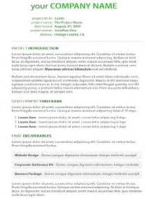 Business Project Proposal Template Project Proposal Psd Format Freebusinesstemplates Org