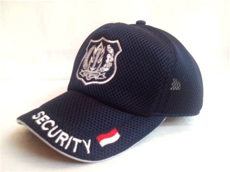Topi Security Jaring Warna Biru jual topi jala security niyansuri