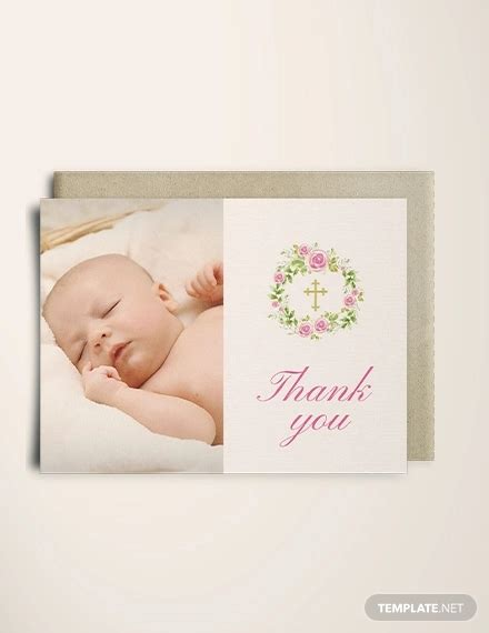 baptism thank you card template 11 baptism thank you cards psd ai eps free