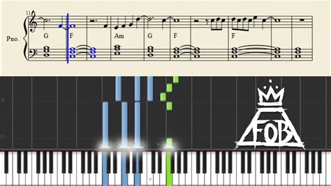 tutorial keyboard fall for you fall out boy alone together piano tutorial sheets