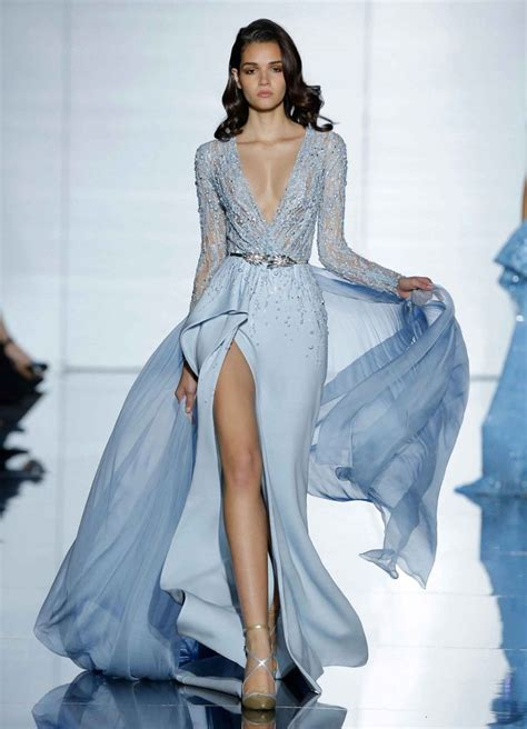 Blue Mermaid Dress By Ralph 25 best ideas about plunging neckline on