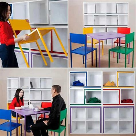 smart storage solutions smart storage solution table and chairs fit on the shelf