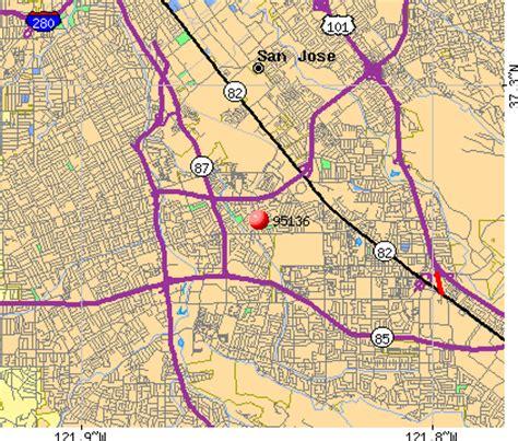 san jose map of zip codes san jose zip code map map3