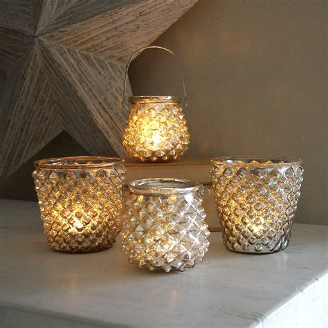 Tealight Holders - silver tealight holders by lilly