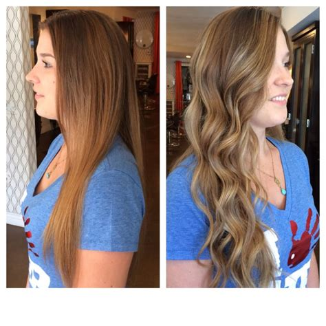 wash hair after balayage highlights before and after balayage waves baliage by us