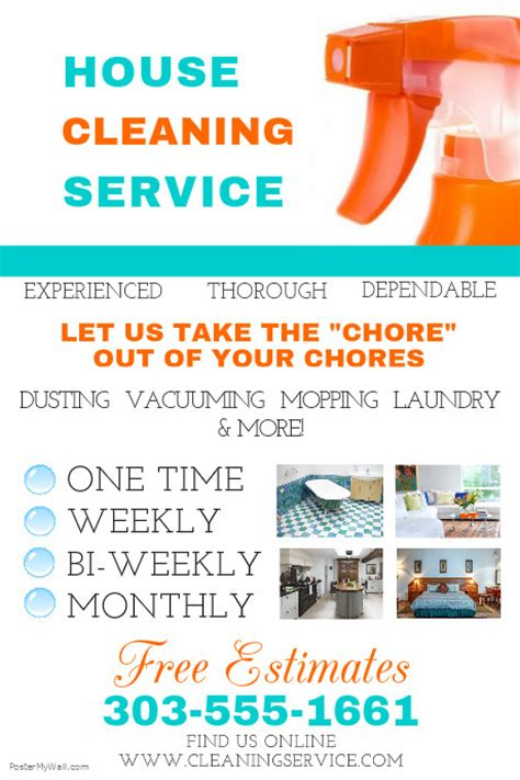 House Cleaning Service Template Postermywall Cleaning Company Flyer Template