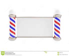 barber pole on a white background stock photo image
