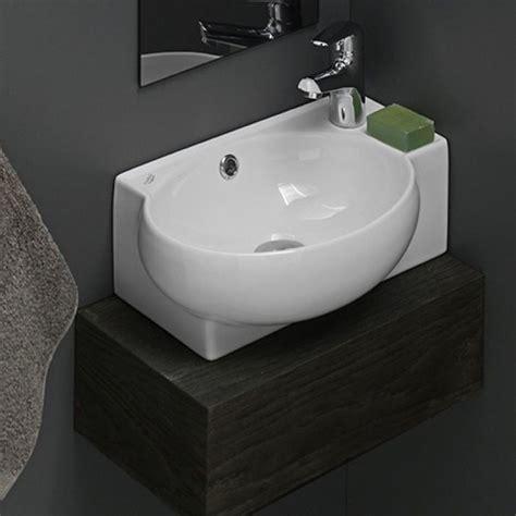 self bathroom sink bathroom sink cerastyle 001300 u curved corner white