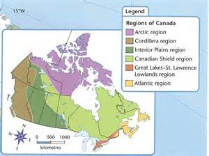 map of canada with regions canada s 6 geographic regions student spark ca