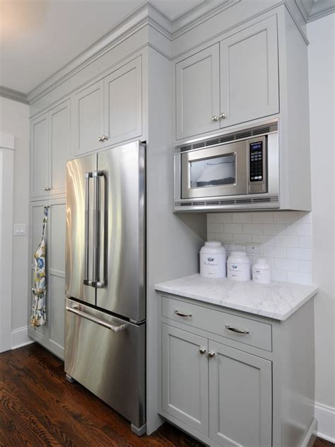 Grey Painted Kitchen Cabinets Gray Green Cabinet Paint Color Cottage Kitchen Benjamin Gettysburg Gray Dresser Homes
