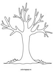 Printable Fall Tree Coloring Page sketch template