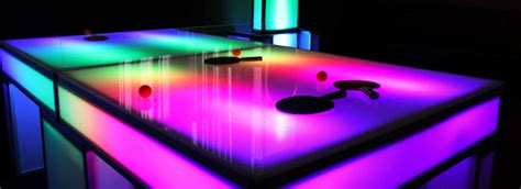 light up ping pong table led glow edition