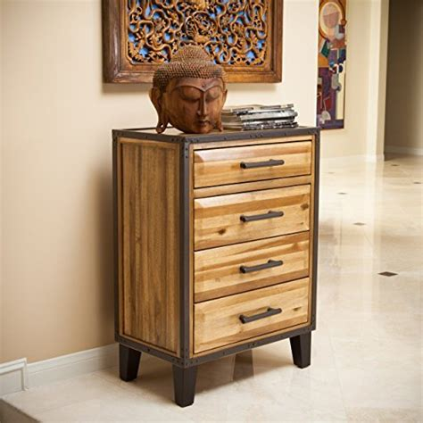 solid acacia wood dresser glendora natural stain solid wood four drawer storage