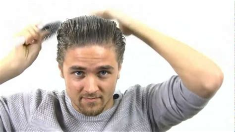 gelled comb back hipster haircut how to hair like joey tribbiani back combed sleek mens
