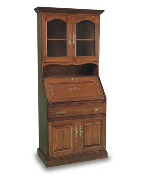 amish deluxe secretary desk and hutch amish office