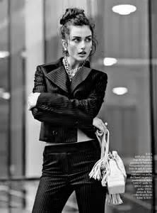 Andreea Diaconu Models Boyish Style for Mariano Vivanco in