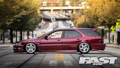stanced honda accord estate fast car
