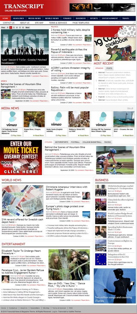 best wordpress newspaper themes free 28 new great magazine newspaper style wordpress themes