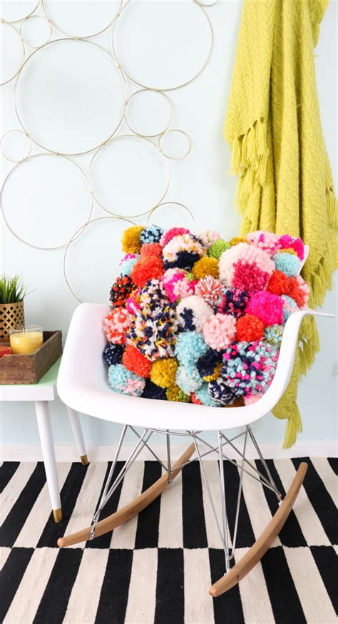 how to make home decorations a kailo chic life diy it a cozy pom pom pillow