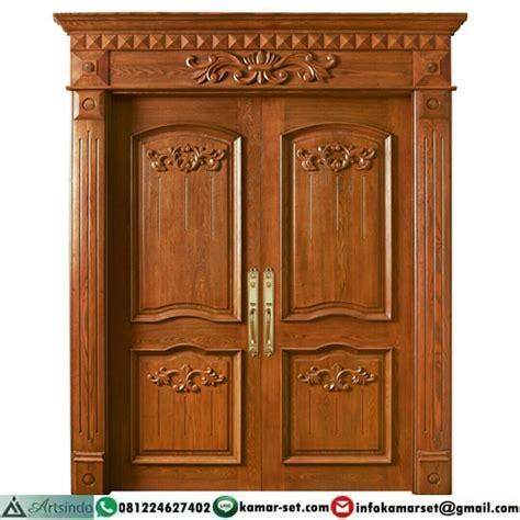 model pintu  daun  unik pintu rumah warna coklat
