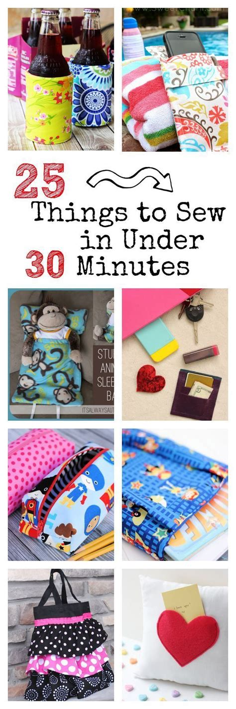 25 things to sew in under 30 minutes homemade christmas