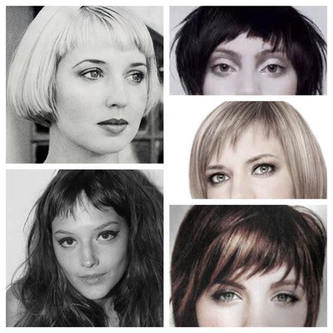 womens hairstyles short top long bottom 13 best micro fringe images on pinterest hairdos short