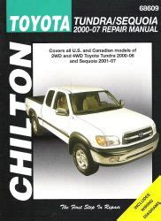 auto repair manual online 2007 toyota tundra head up display 2000 2006 toyota tundra and 2001 2007 sequoia chilton s repair manual