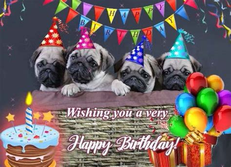 pug ecards special hugs with pugs free birthday wishes ecards greeting cards 123 greetings