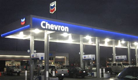 lighting chevron gas stations