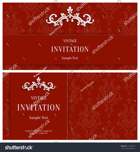 horizontal card template vector 3d floral horizontal cards stock vector