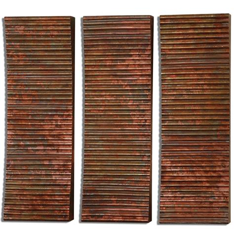 Adara Set by Uttermost Adara Copper Wall Set Of 3 Uttermost 07064