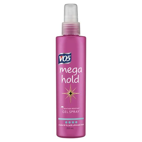 styling gel mega hold vo5 mega hold gel spray 200ml at wilko com