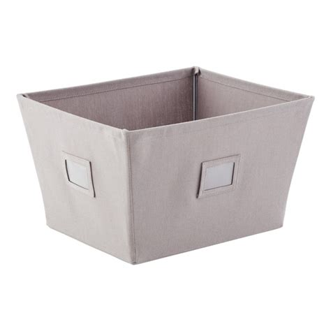 canvas storage bins grey open canvas storage bins with labels the container