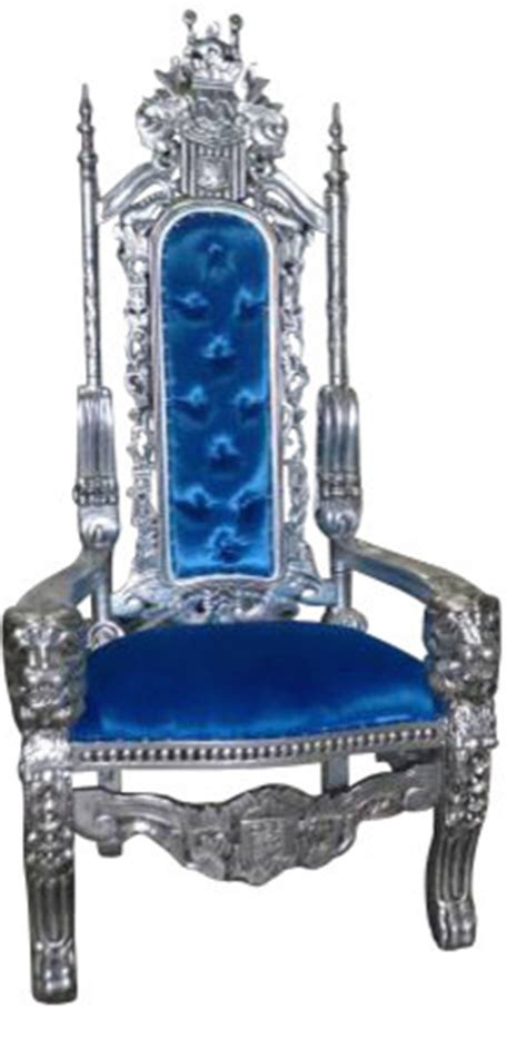 Royal Blue Dining Chairs Royal King And Queen Gothic Throne Chair Blue Eclectic