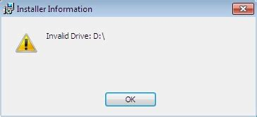 error 1327 invalid drive while installing or updating troubleshooting quot invalid drive quot message when installing