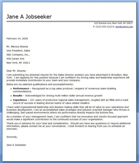 cover letter sles creative digital creative director cover letter sle livecareer