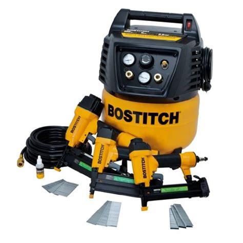 stanley bostitch brad finish nailer stapler air compressor combo kit btfp
