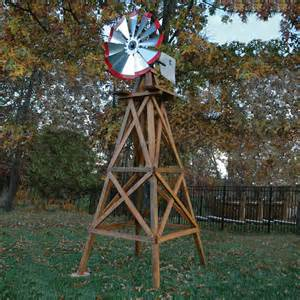 outdoor water solutions wooden garden windmill 10ft h