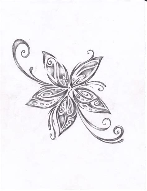 tribal floral tattoo flower images designs